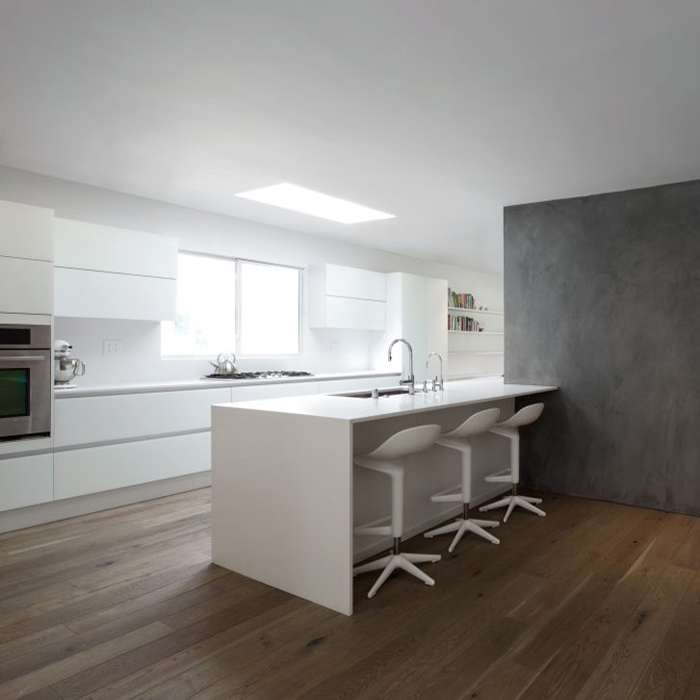 2 pac white lacquer mat finish kitchen cabinet project in Brisbane,AU