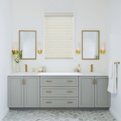 Light grey shaker vanity