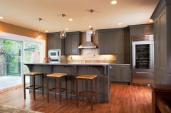 Dark grey shaker kitchen -Allandcabinet