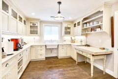 Transitional solid wood white painted frame shaker kitchen cabinet- Allandcabinet